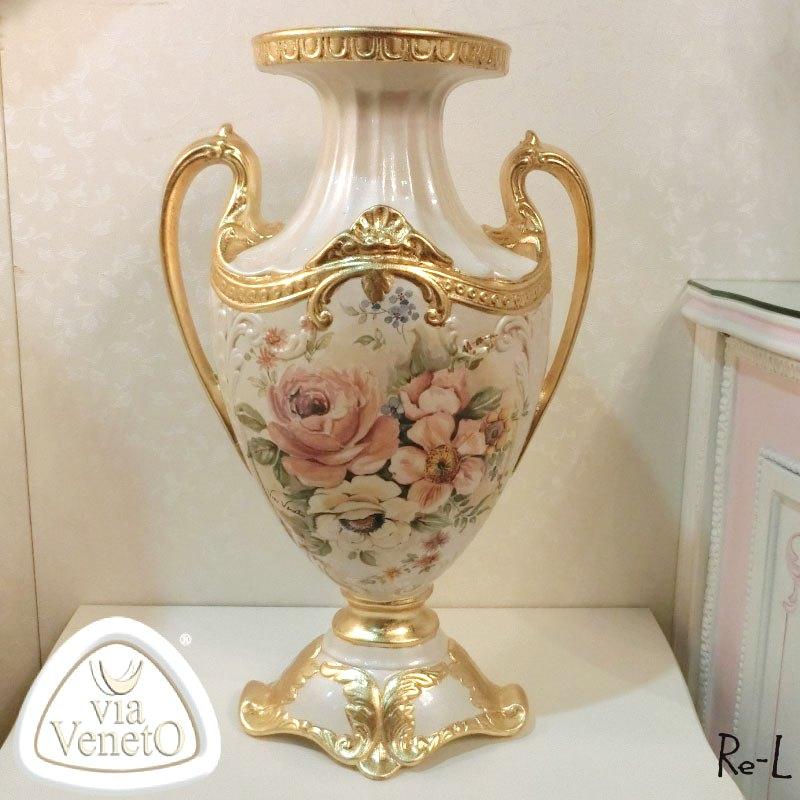 イタリア製 磁器 磁器 ベース 花瓶 置物 ViaVencto 花瓶 ViaVencto REITA-D-0570, クラウンギアーズ:0e90e03d --- sunward.msk.ru