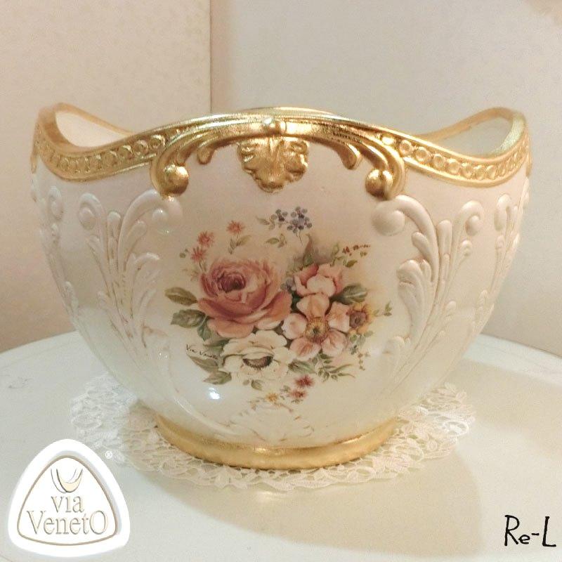 ★イタリア製 磁器 ベース 花瓶 置物  ViaVencto REITA-D-0569