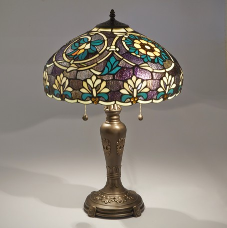 ステンドグラス テーブルランプ ライラLED対応 ガラス スタンドランプ ランプ ライト インテリア ディスプレイ クラシック アンティーク ショップ プレゼント ギフト おしゃれ かわいい 照明 卓上 姫系 北欧 送料無料RE689403