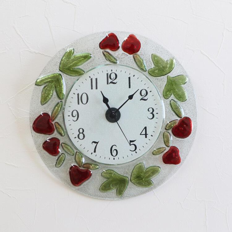 イタリア製 壁掛け時計 Vetri di Nennellaガラス インテリア クラシック アンティーク クロック ディスプレイ ショップ ギフト プレゼント イタリア おしゃれ かわいい 壁掛け 掛時計 時計 丸 北欧 姫系 輸入雑貨 送料無料REA6-521