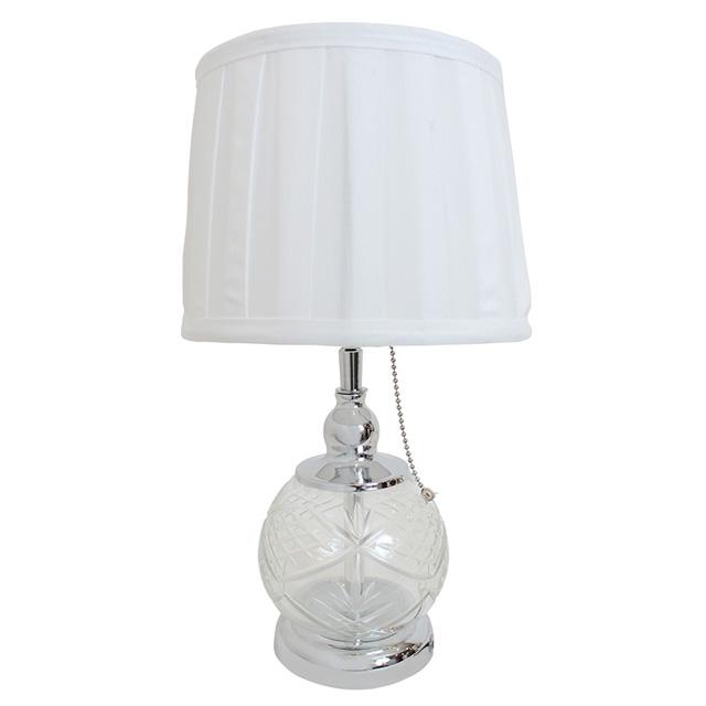 卓上シェードランプ ガラスドームアンティーク スタンドランプ ホワイト ベッドサイド テーブル ダイニング 寝室 RELF-520