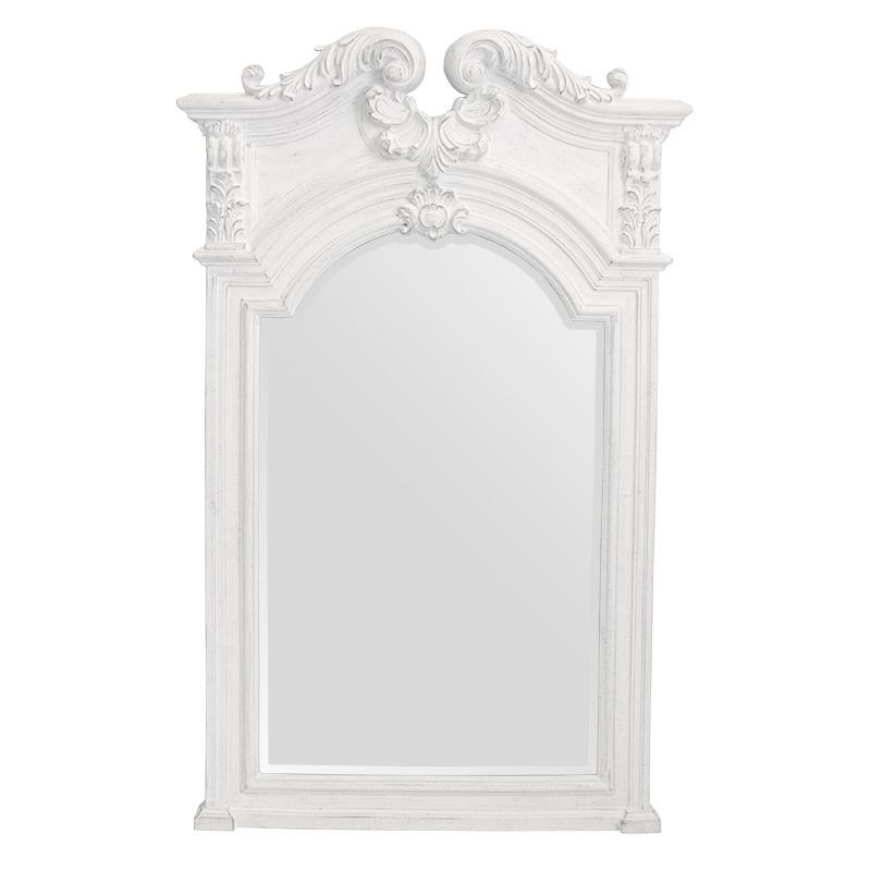 壁掛けミラー 角形 エレガント 鏡 ホワイトウォールミラー 壁掛け鏡RESS-2150-SG