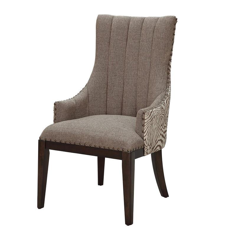 ゼブラ柄 ダイニングチェアファブリック クラシック グレー チェア おしゃれ かわいい 椅子 北欧 姫 姫系 木製 送料無料REAC-1473
