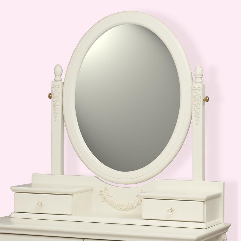 ●【日本製】オリジナル白家具シリーズ celesta チェレスタ ドレッサー置きミラー  【開梱設置配送】