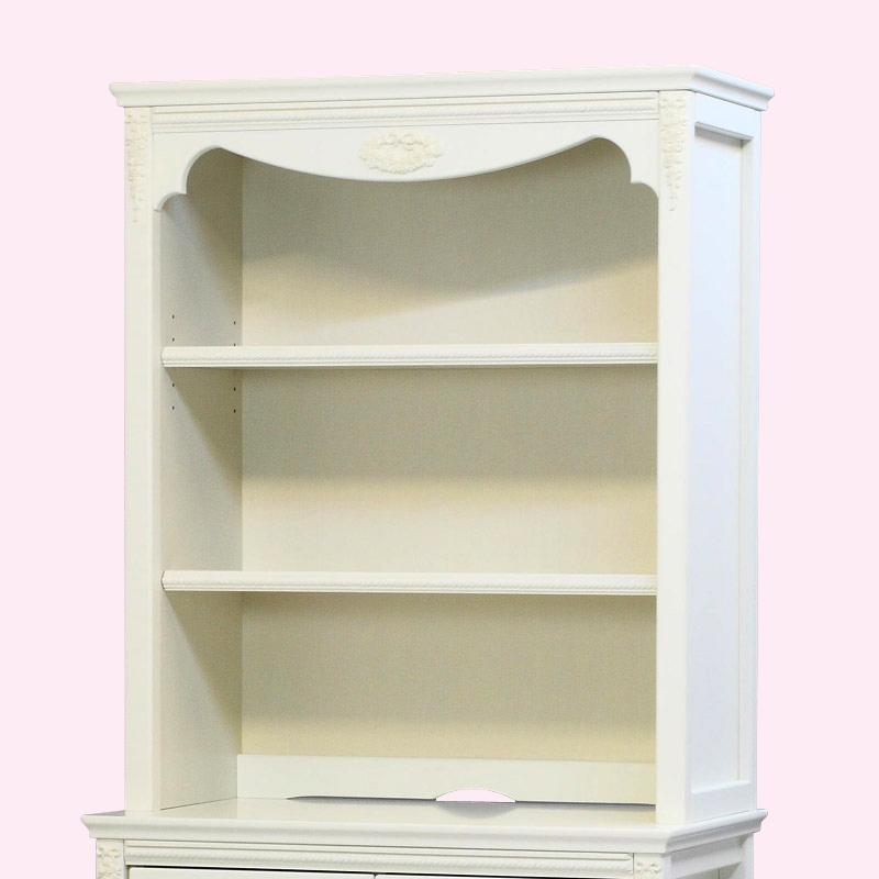 ●【日本製】オリジナル白家具シリーズ celesta チェレスタ 80アッパー(上置き) 【ホワイト 白 キャビネット上置き 完成品 開梱設置配送】