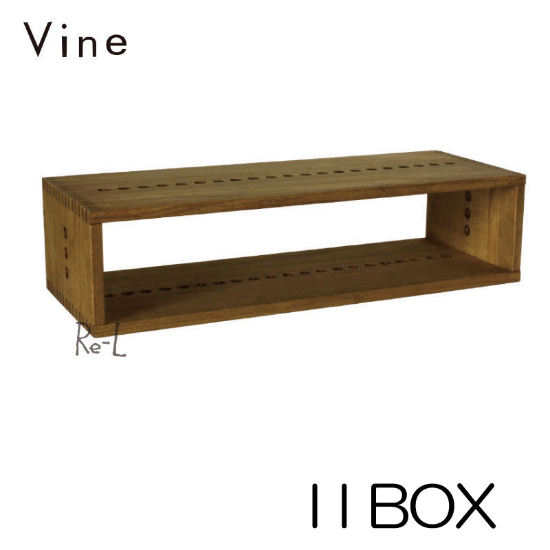 日本製 Vine ヴァイン I I BOXキューブボックス オープン 完成品 cubebox カラーボックス ディスプレイラック ウッドボックス 木箱 桐無垢材 テレビ台 棚 本棚 ユニット家具 自然塗料 北欧 小物収納家具 収納ボックス