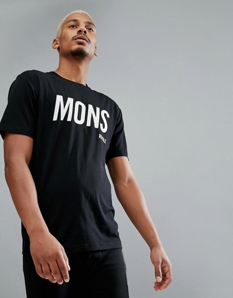 モンスロイヤル メンズ Tシャツ トップス Mons Royale Icon Baselayer T-Shirt in Merino Black