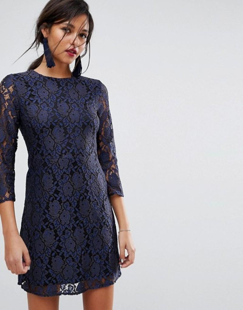 オアシス レディース ワンピース トップス Oasis All Over Lace Shift Dress Multi blue