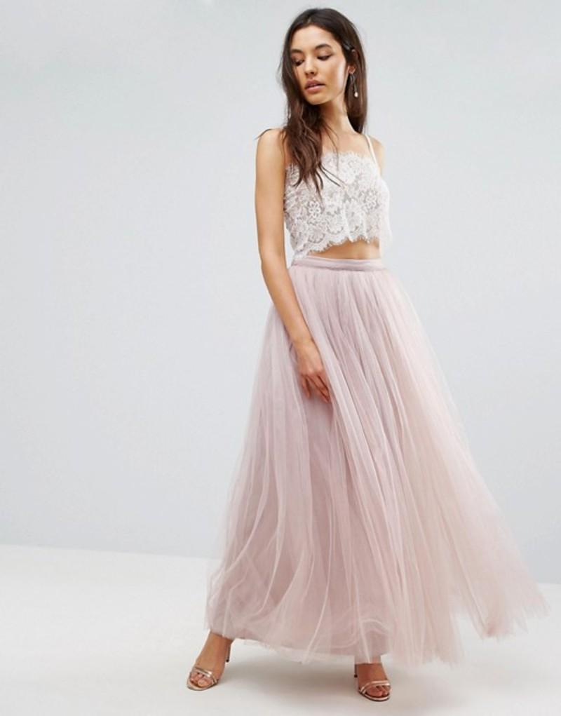 リトルミストレス レディース スカート ボトムス Little Mistress Maxi Tulle Prom Skirt Mink