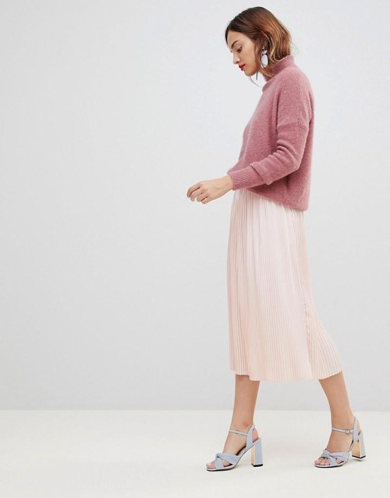 ワイエーエス レディース スカート ボトムス Y.A.S Pleated Midi Skirt Pink