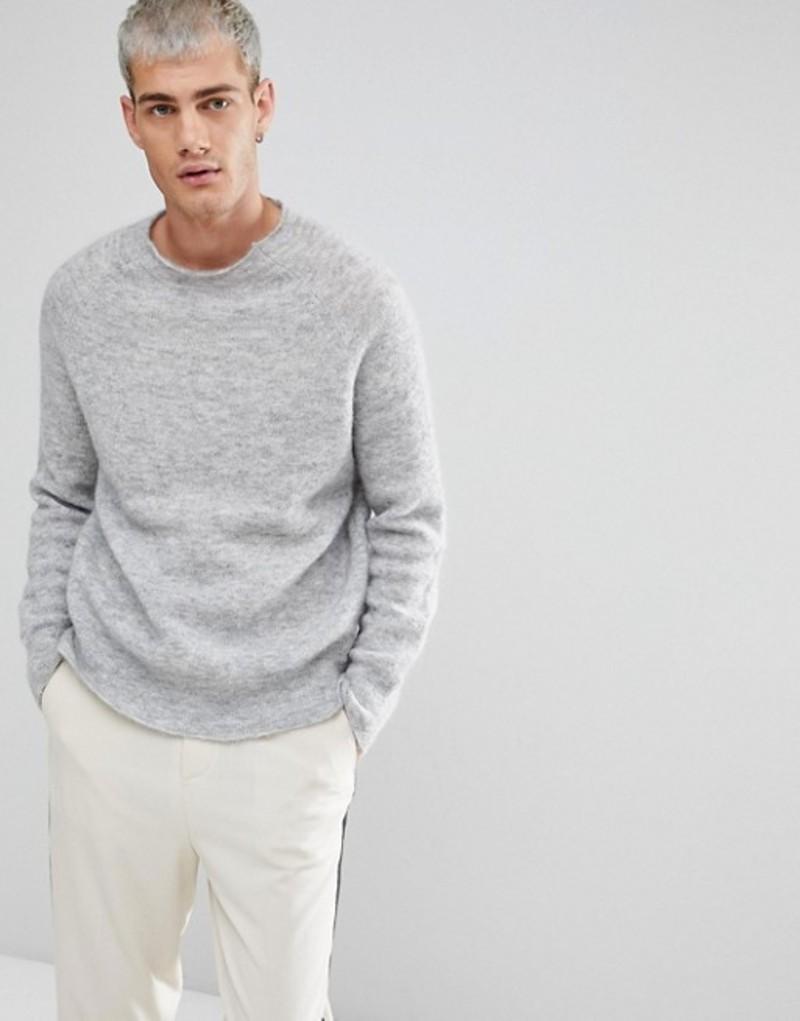 ウィークデイ メンズ ニット・セーター アウター Weekday Stars Sweater Grey