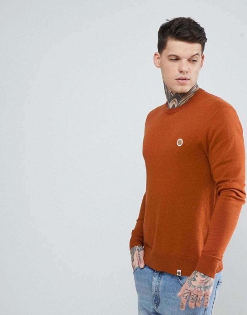 プレティグリーン メンズ ニット・セーター アウター Pretty Green Hinchcliffe Crew Neck Sweater in Orange Orange
