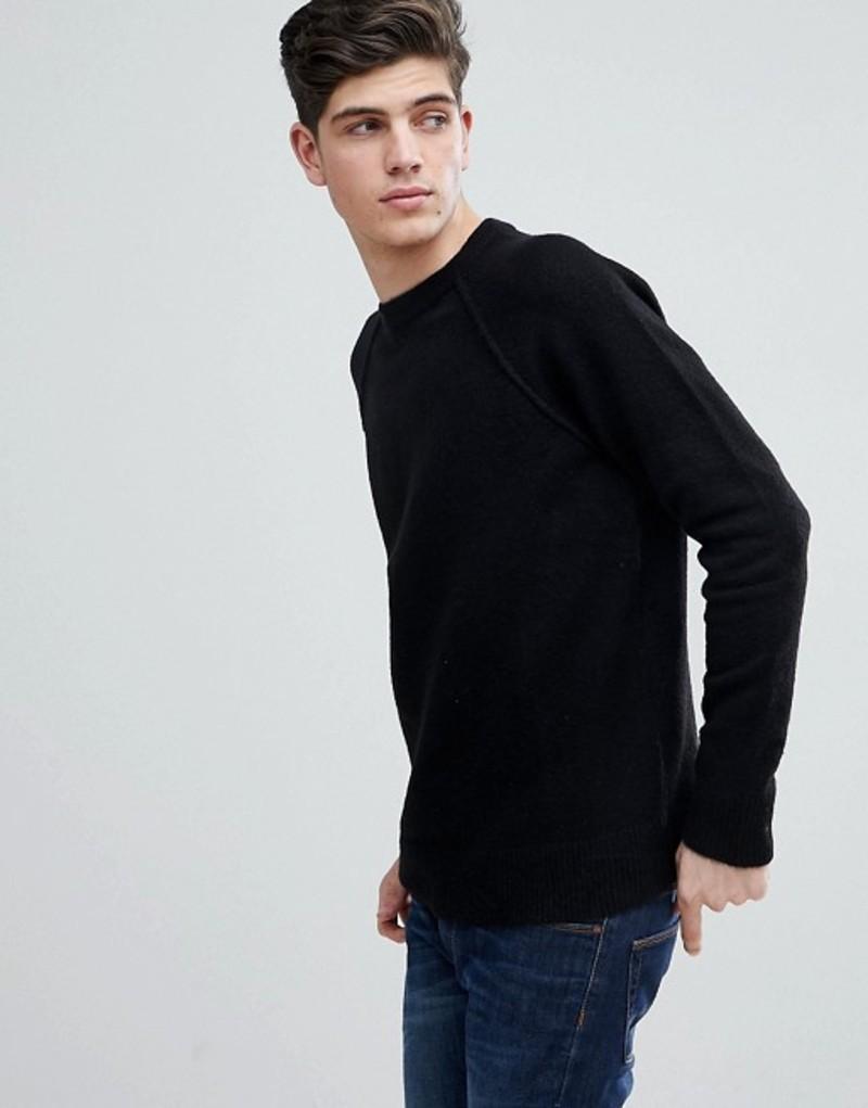 マンゴ メンズ ニット・セーター アウター Mango Man Textured Knit Sweater In Black Black