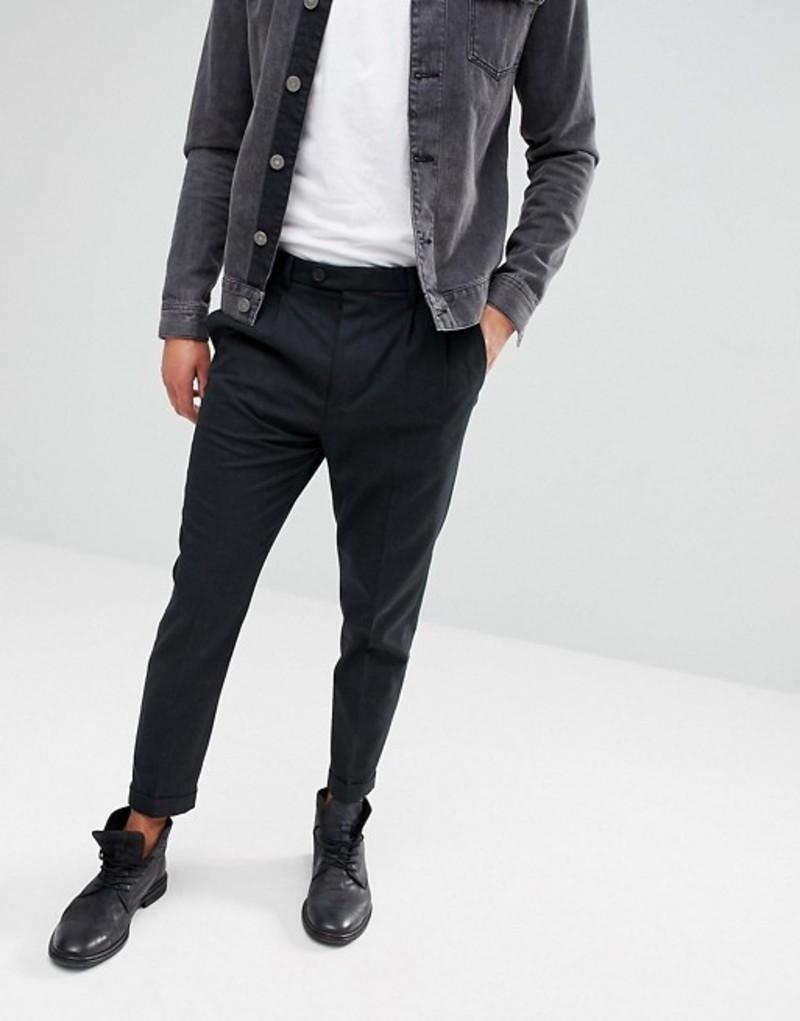 オールセインツ メンズ カジュアルパンツ ボトムス AllSaints Slim Crop PANTS In Charcoal Charcoal mm003j