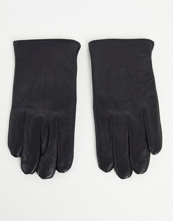 送料無料 サイズ交換無料 エイソス メンズ アクセサリー 国内即発送 手袋 Black gloves DESIGN in ASOS black touchscreen 付与 leather