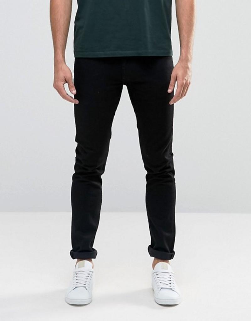 リー メンズ デニムパンツ ボトムス Lee Jeans Luke Skinny Clean Black Clean black