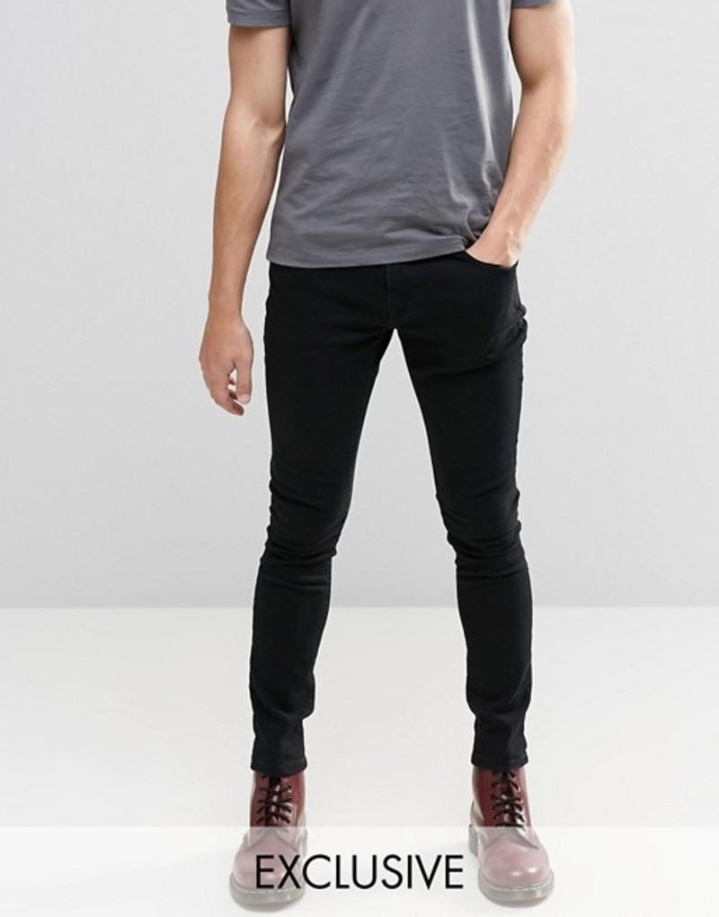 ブルックリンサプライ メンズ デニムパンツ ボトムス Brooklyn Supply Co Washed Black Dyker Super Skinny Jeans Washed black