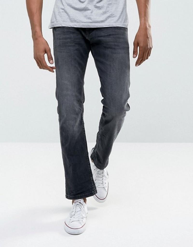 エスプリ メンズ デニムパンツ ボトムス Esprit Jeans In Straight Fit Washed Black Organic Denim Denim 911