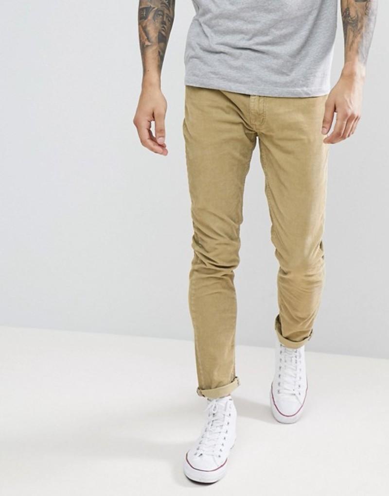 ロラス メンズ デニムパンツ ボトムス Rollas Cord Jeans In Camel Camel cord