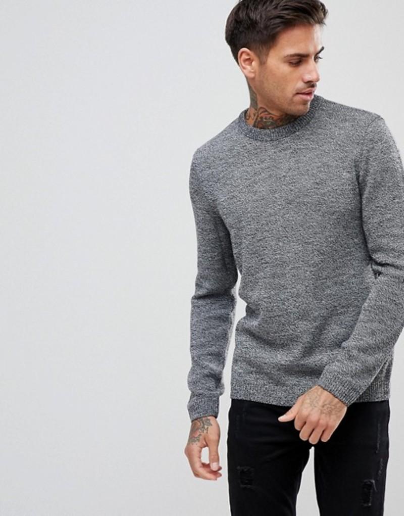 エイソス メンズ ニット・セーター アウター ASOS Midweight Sweater In Black And White Twist Black and white