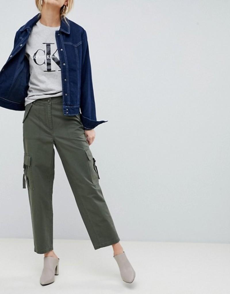 エイソス レディース カジュアルパンツ ボトムス ASOS DESIGN Clean Combat Pants Khaki