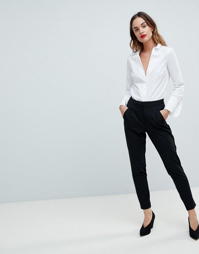 ワイエーエス レディース カジュアルパンツ ボトムス Y.A.S Tailored PANTS With Elasticated Waist Black