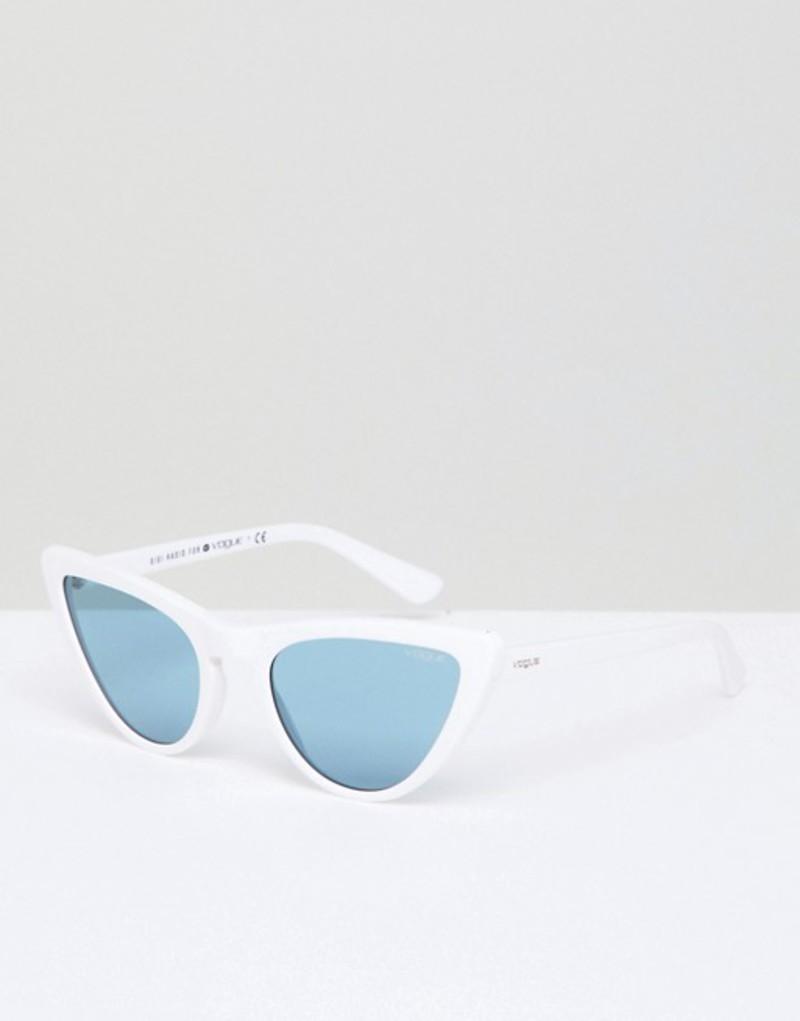 ヴォーグ メンズ サングラス・アイウェア アクセサリー Vogue Eyewear Cat Eye Sunglasses by Gigi Hadid in White White