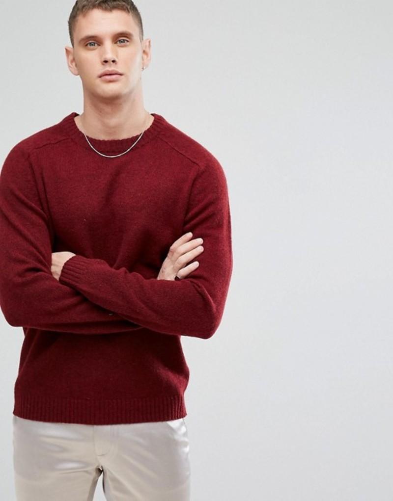 セレクテッドオム メンズ ニット・セーター アウター Selected Homme Knitted Sweater In 100% Lambswool Syrah