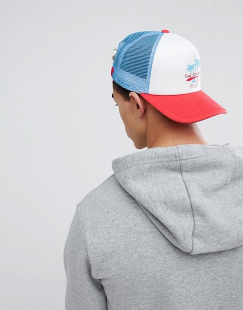 イレブンディグリー メンズ 帽子 アクセサリー 11 Degrees Trucker Cap With Surf Embroidery White
