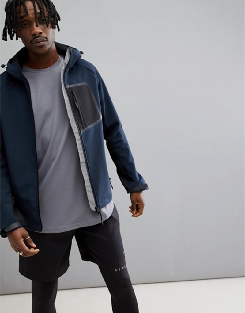 エイソス メンズ ジャケット・ブルゾン アウター ASOS 4505 Jacket With Bonded Inner Fleece Blue
