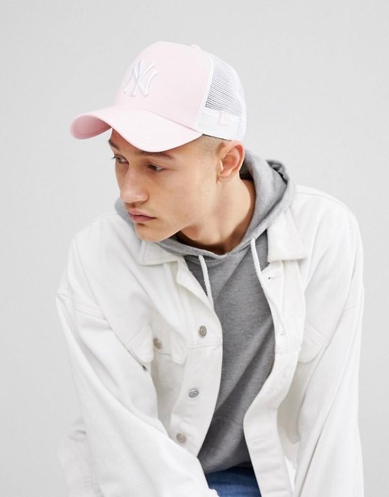 ニューエラ メンズ 帽子 アクセサリー New Era NY Trucker Cap Pink