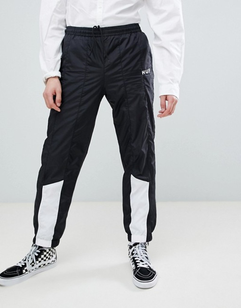 ハフ メンズ カジュアルパンツ ボトムス HUF Area Track Pants In Black Black