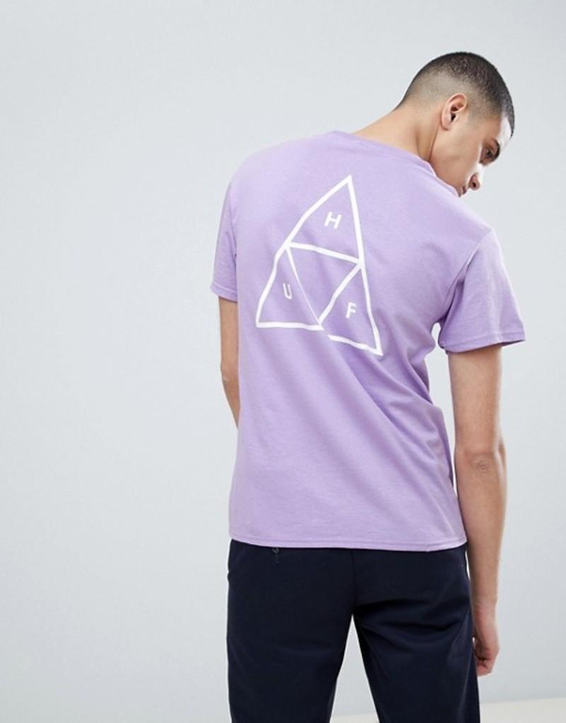 ハフ メンズ Tシャツ トップス HUF T-Shirt With Triple Triangle Back Print In Lavendar Purple