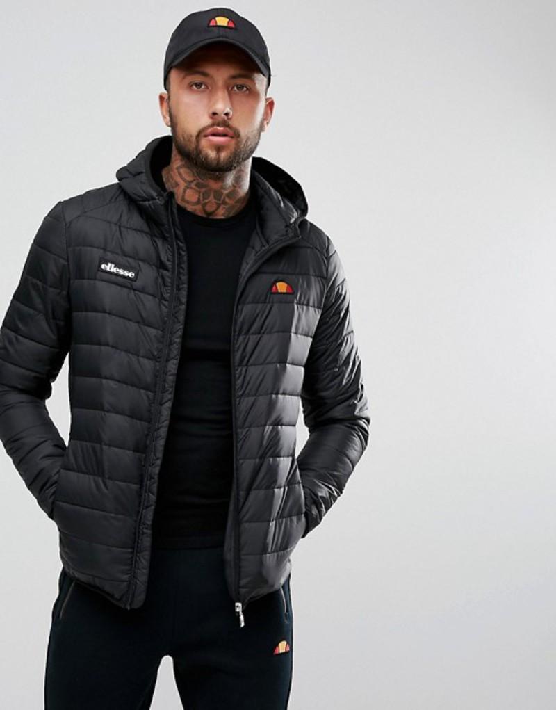 エレッセ メンズ ジャケット・ブルゾン アウター ellesse Padded Jacket With Hood In Black Black