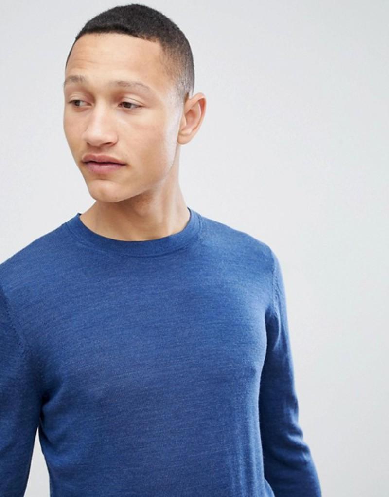 レイス メンズ ニット・セーター アウター Reiss Crew Knit Sweater In Wool Navy