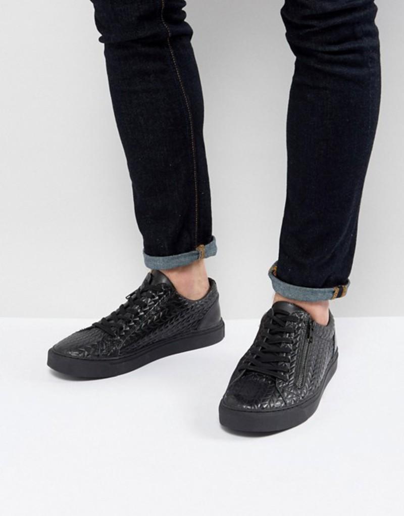 レリジョン メンズ スニーカー シューズ Religion Barney Sneakers In Black Black