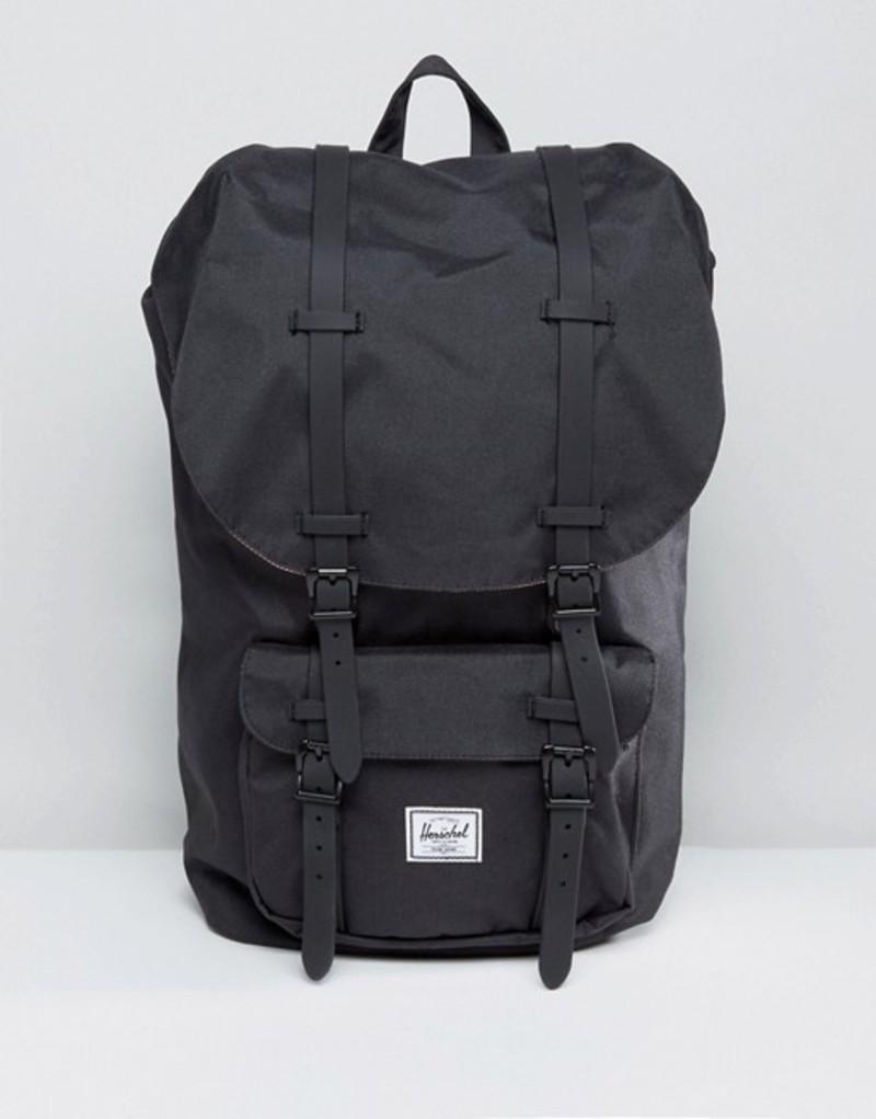 ハーシャル メンズ バックパック・リュックサック バッグ Herschel Supply Co. Little America Backpack in Black 25L Black