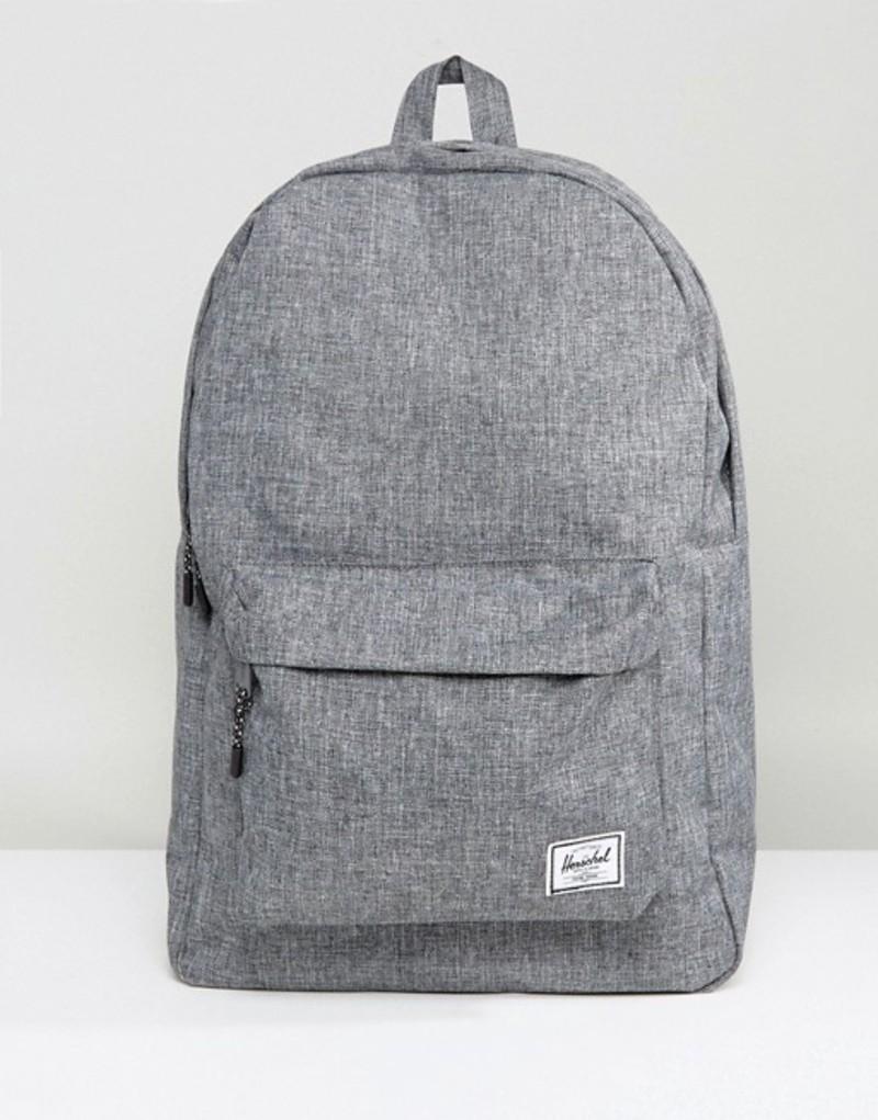 ハーシャル メンズ バックパック・リュックサック バッグ Herschel Supply Co. Classic Backpack in Crosshatch Grey