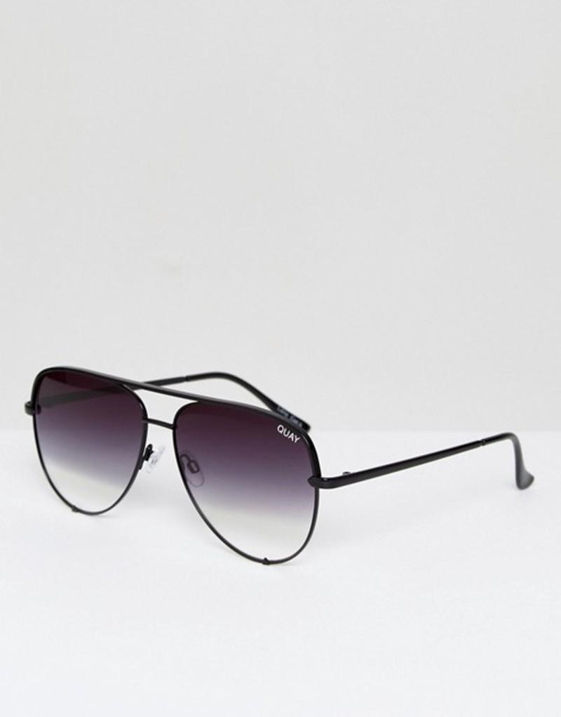 クアイオーストラリア メンズ サングラス・アイウェア アクセサリー Quay Australia X Desi High Key Sunglasses In Black Fade Black