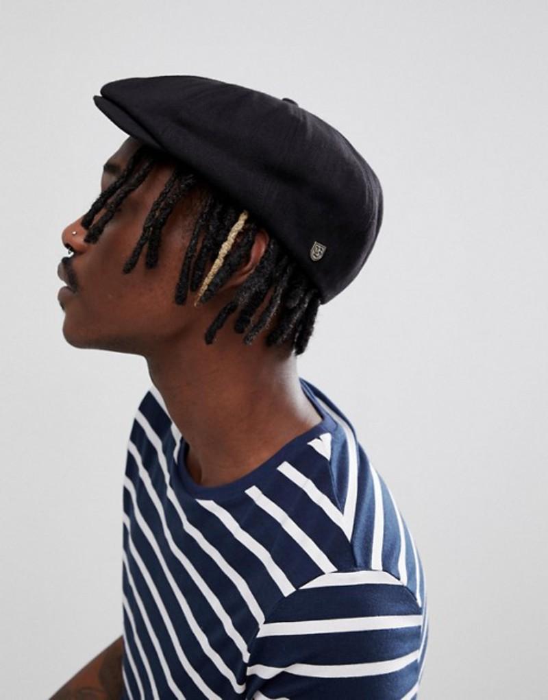 ブリクストン メンズ 帽子 アクセサリー Brixton Brood Flat Cap In Black Black
