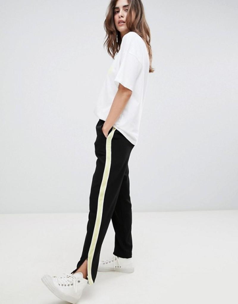 ゲタス レディース カジュアルパンツ ボトムス Gestuz Vanina Sports Stripe Pants Black