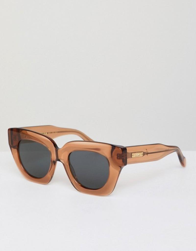 ソニックス メンズ サングラス・アイウェア アクセサリー Sonix Tokyo Dream Retro Sunglasses In Brown Brown