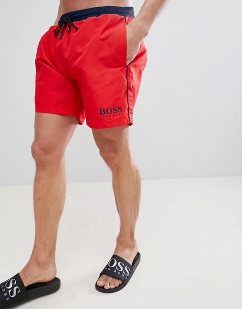 ボス メンズ ハーフパンツ・ショーツ 水着 BOSS Star Fish Swim Shorts Exclusive Red