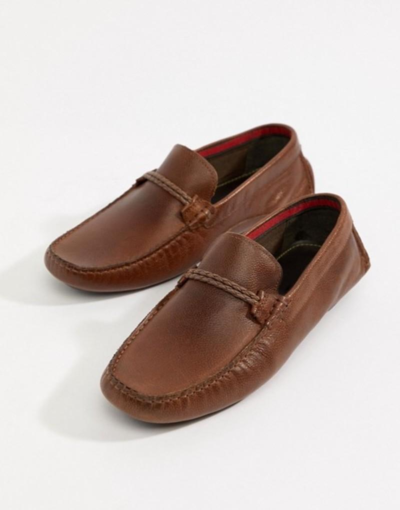 リバーアイランド メンズ ドライビングシューズ シューズ River Island Leather Loafers In Tan Tan