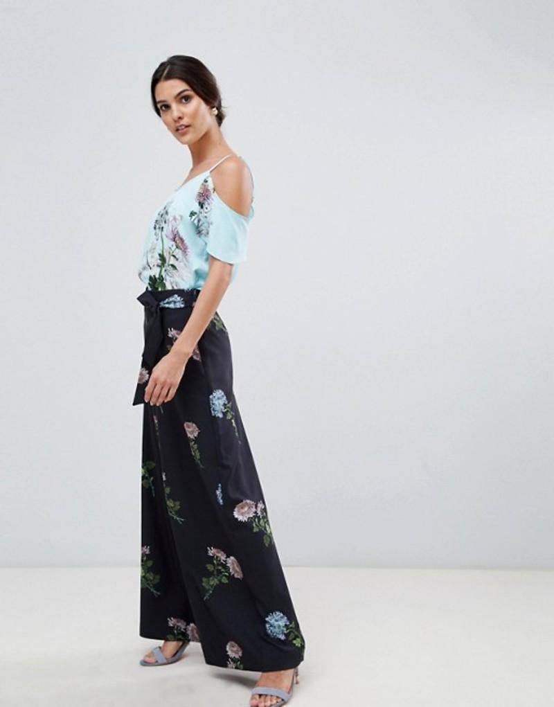 オアシス レディース カジュアルパンツ ボトムス Oasis floral printed culotte pants Multi