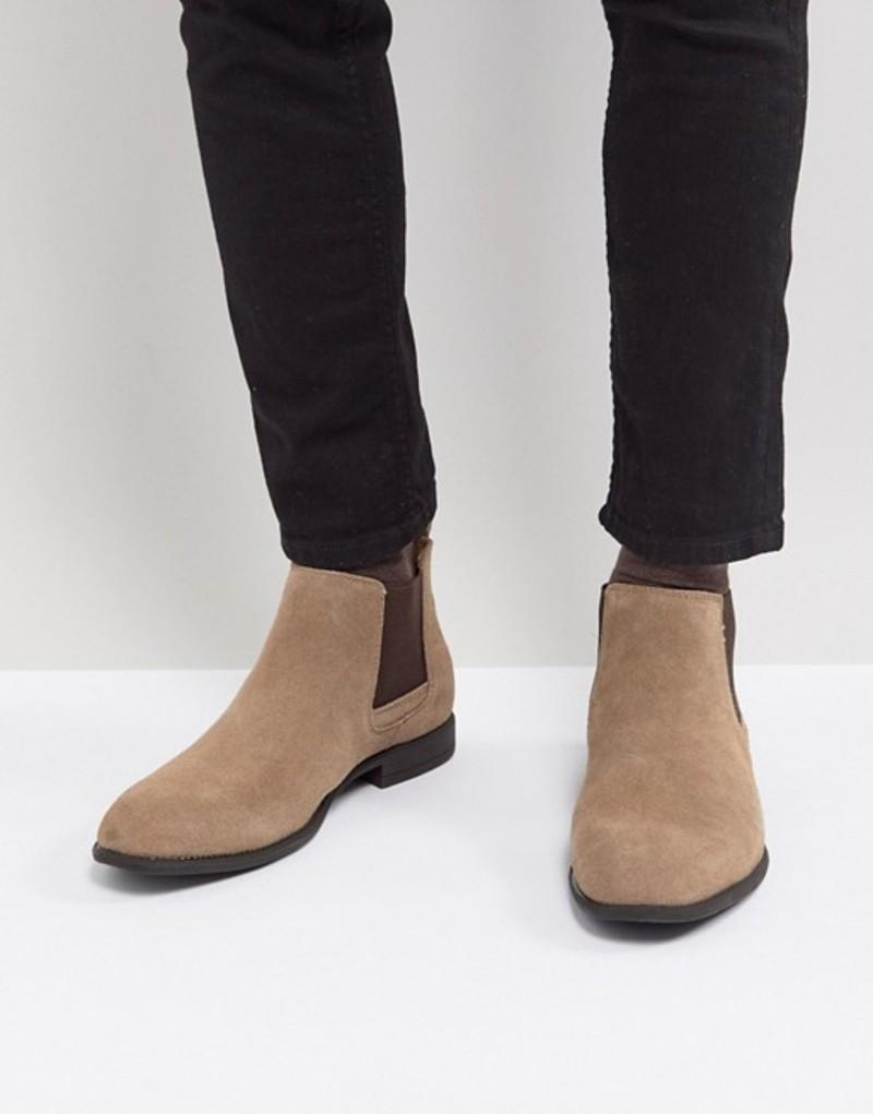 ブレンド メンズ ブーツ・レインブーツ シューズ Blend Real Suede Chelsea Boots 75107 sand brown