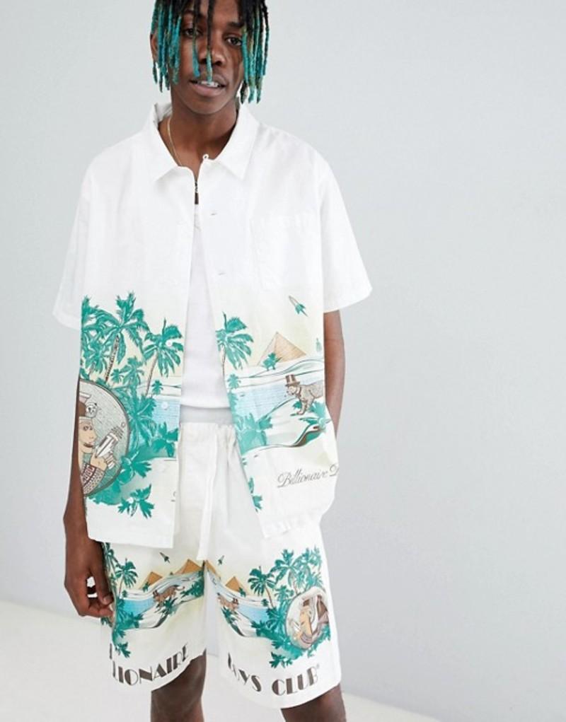 ビリオネアボーイズクラブ メンズ シャツ トップス Billionaire Boys Club Landscape Scenery Shirt In White White