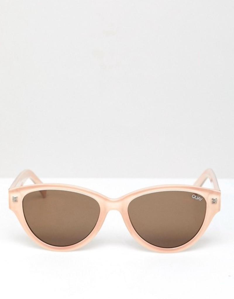 クアイオーストラリア メンズ サングラス・アイウェア アクセサリー Quay Australia Rizzo Round Sunglasses In Cream Cream