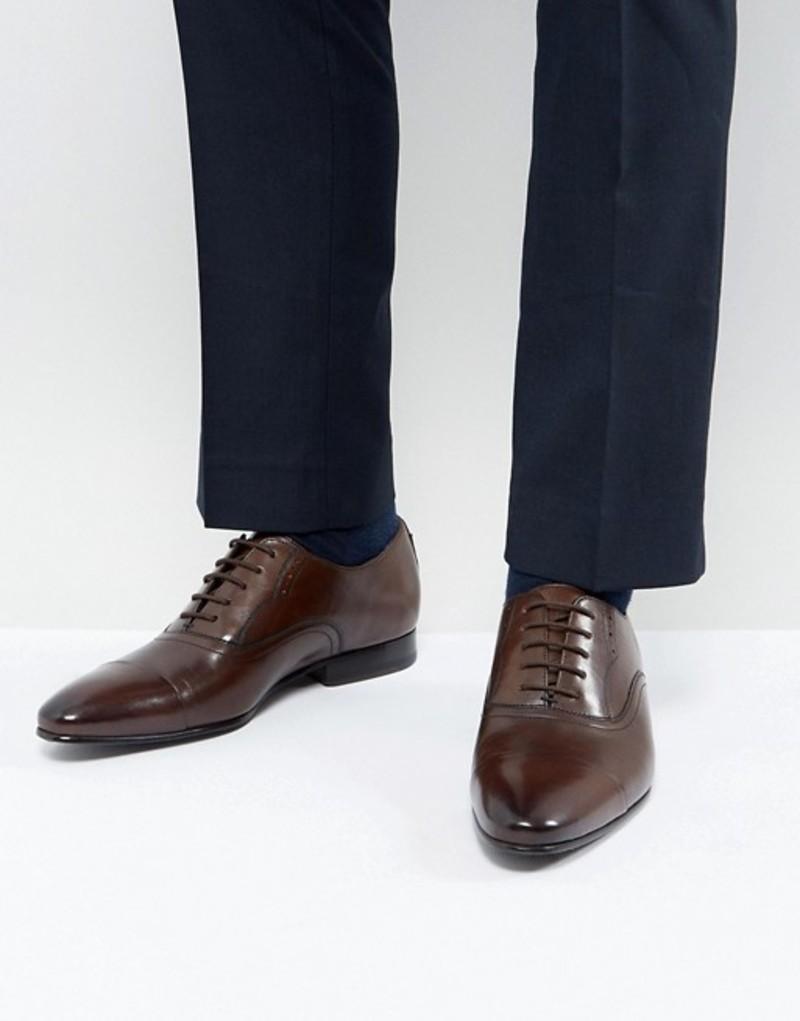 テッドベーカー メンズ オックスフォード シューズ Ted Baker Murain Leather Oxford Shoes In Brown Brown