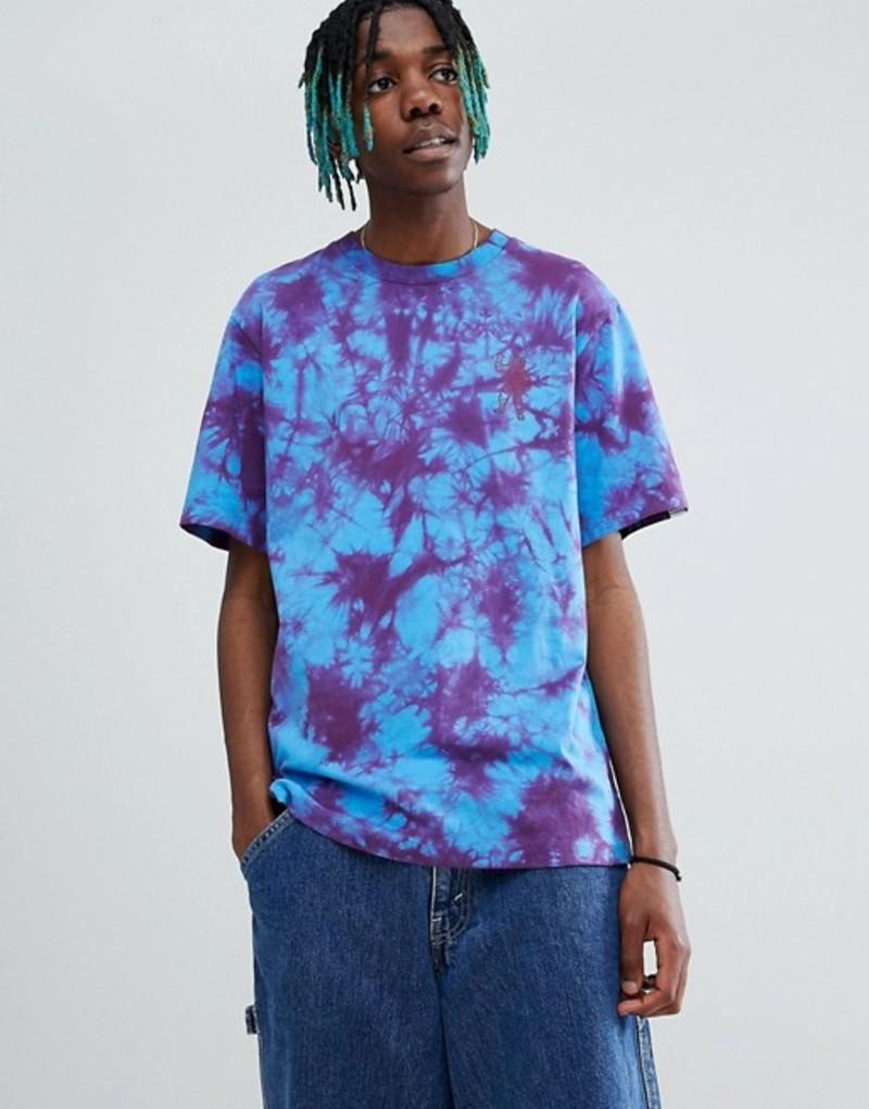 ビリオネアボーイズクラブ メンズ Tシャツ トップス Billionaire Boys Club Bleached T-Shirt With Ideal Back Print In Blue Blue